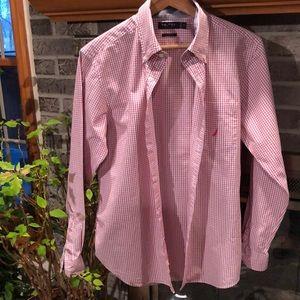 Men's nautical button down shirt sz M